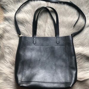 Madewell Black Medium Transport Tote Bag